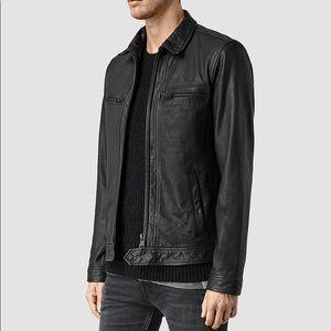 1c0331b90 Men's AllSaints Lark Leather jacket in black